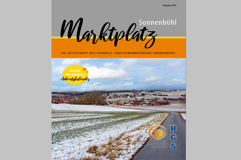 """""""Marktplatz Sonnenbühl"""" – Die Gewerbezeitung des HGS"""